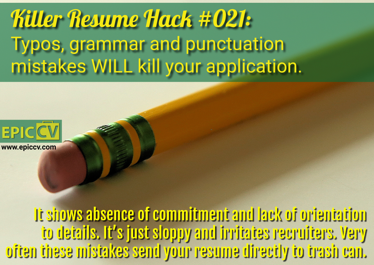 killer resume hack 021 typos grammar and punctuation mistakes