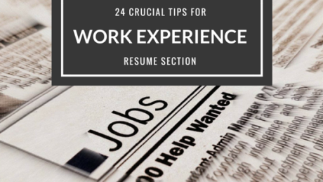 Resume tips work experience