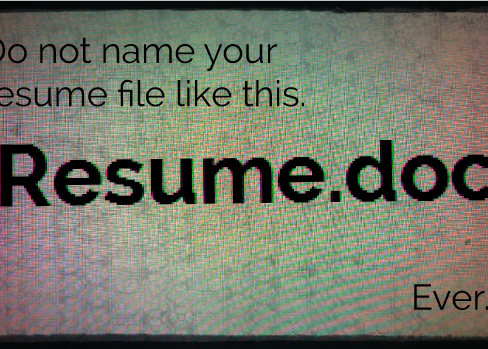 Resume filename