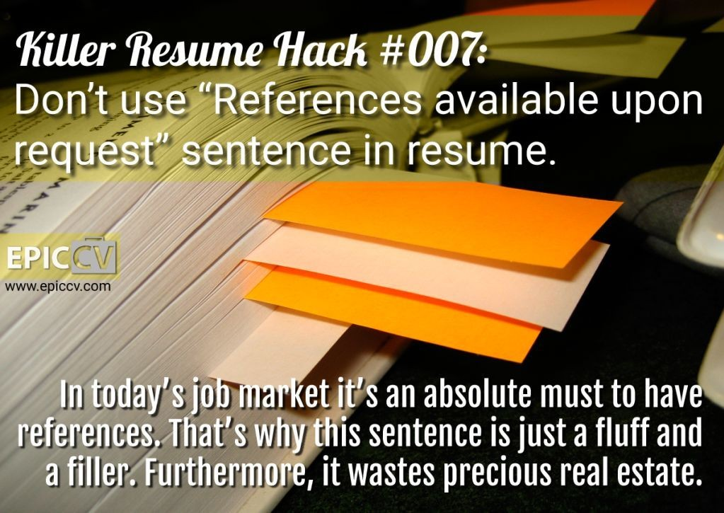 Killer Resume Hack #007