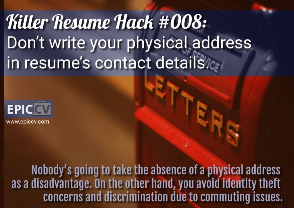 Killer Resume Hack #008