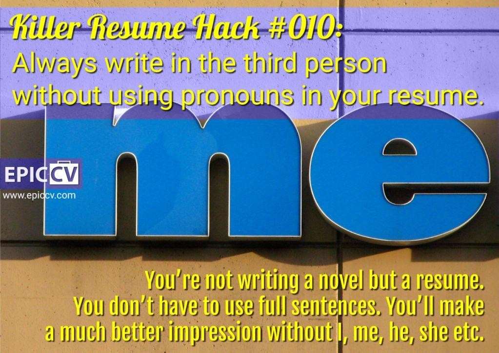 Killer Resume Hack #010