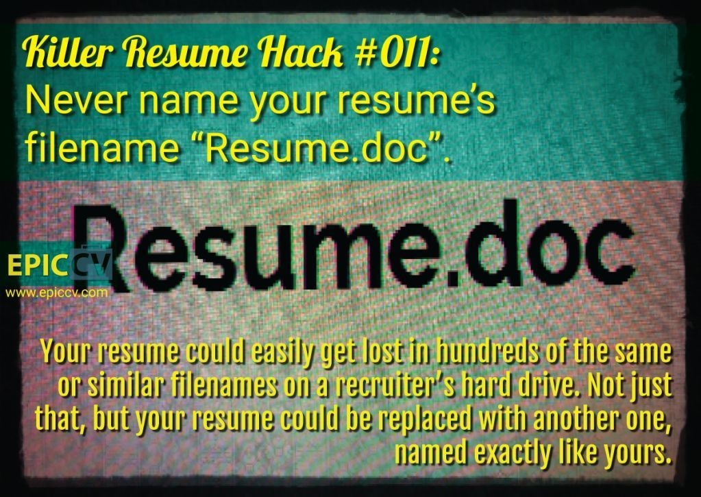 Killer Resume Hack #011
