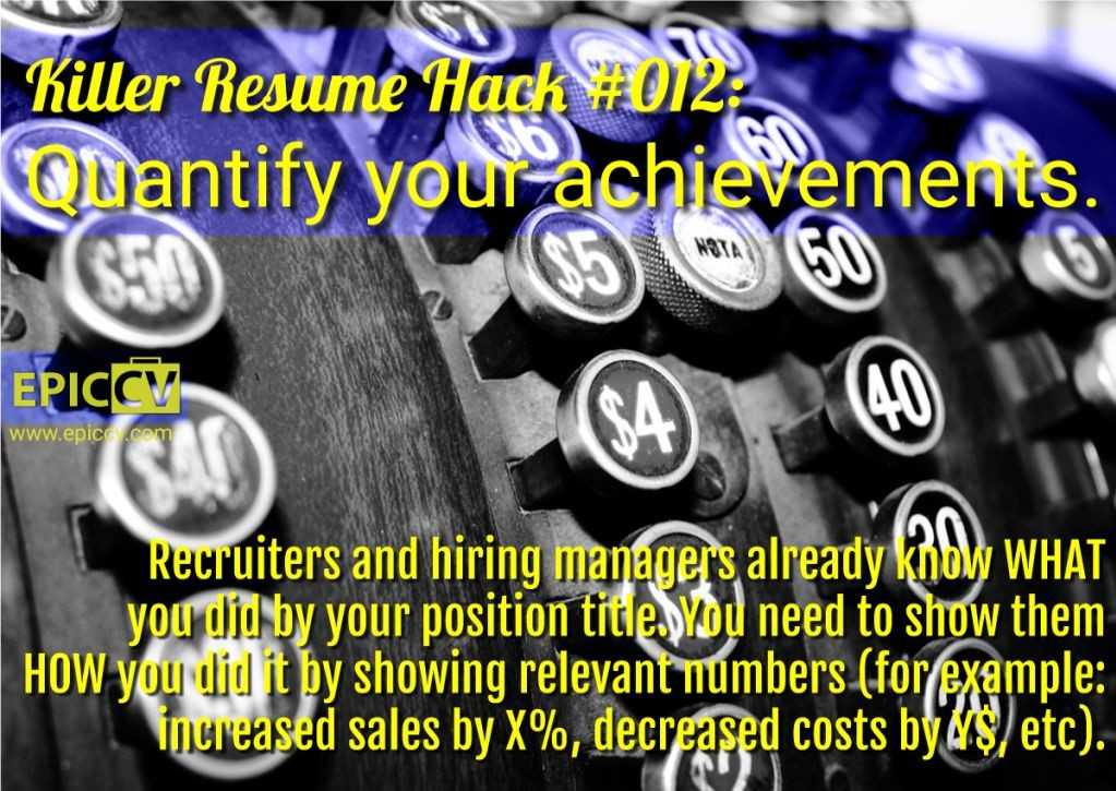 Killer Resume Hack #012