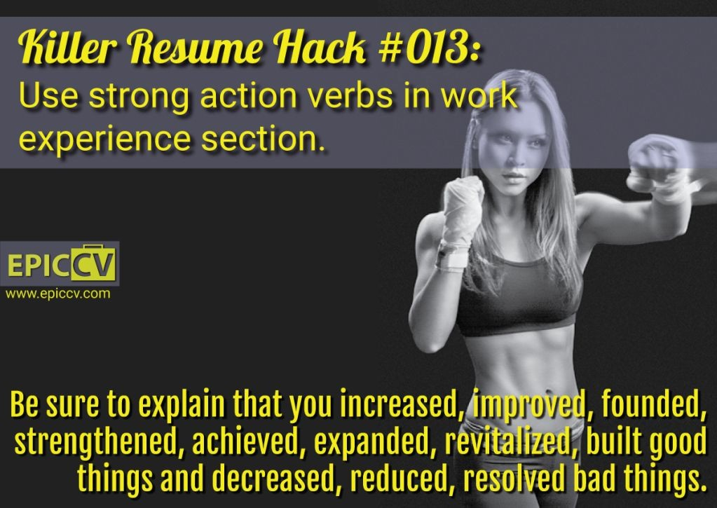 Killer Resume Hack #013