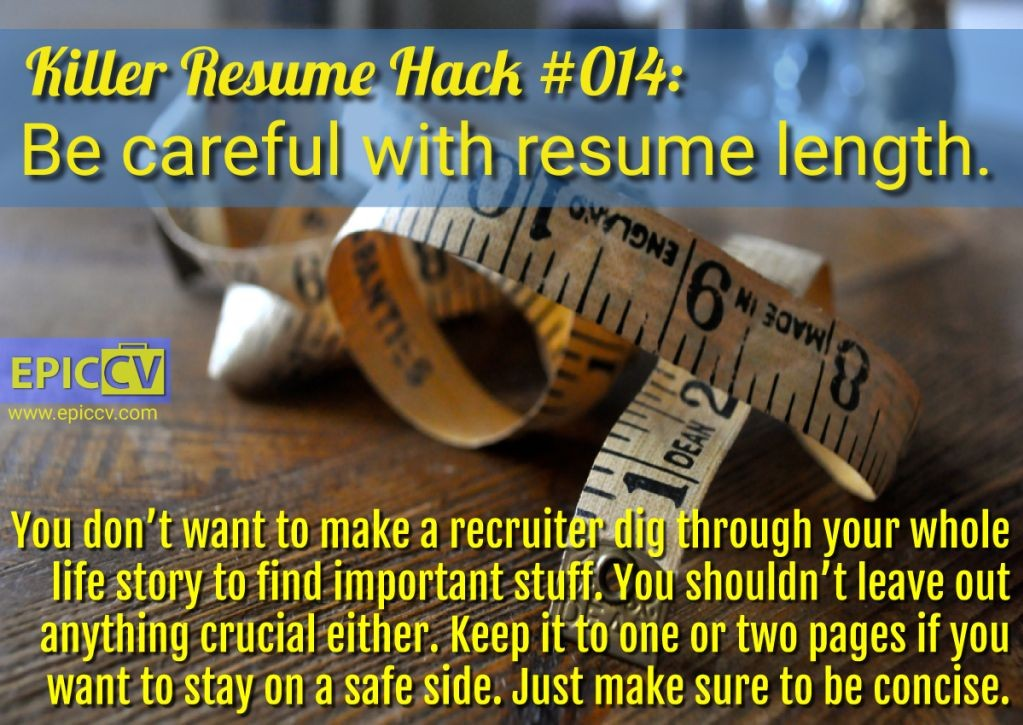 Killer Resume Hack #014