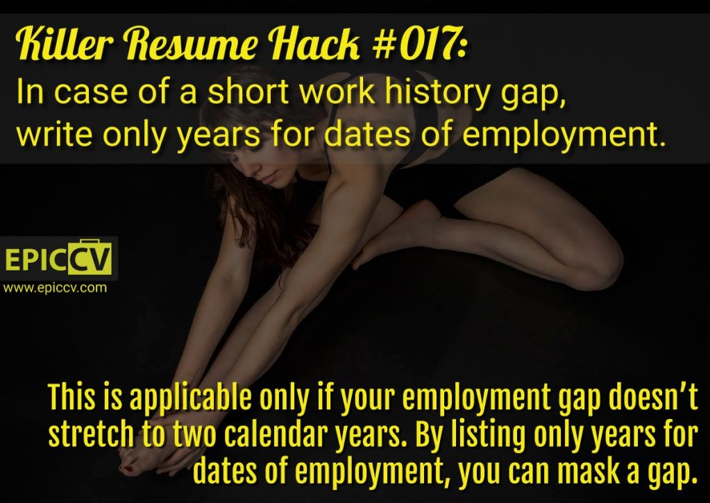 Killer Resume Hack #017