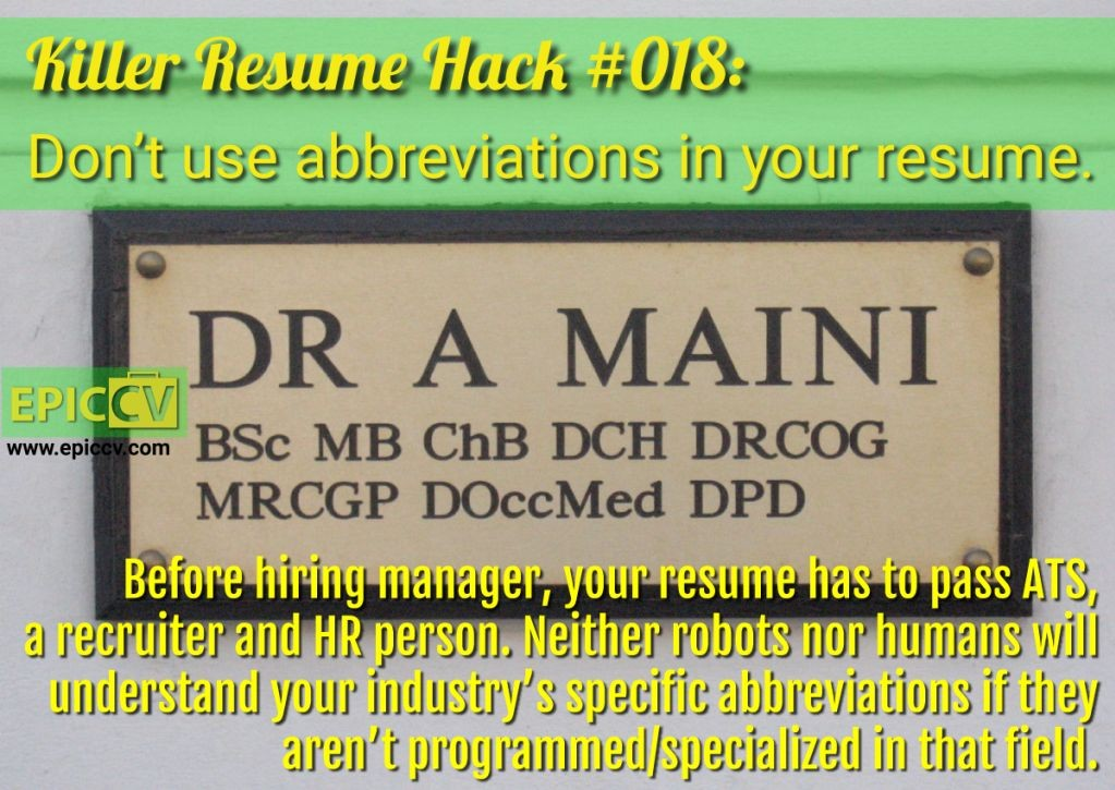 Killer Resume Hack #018