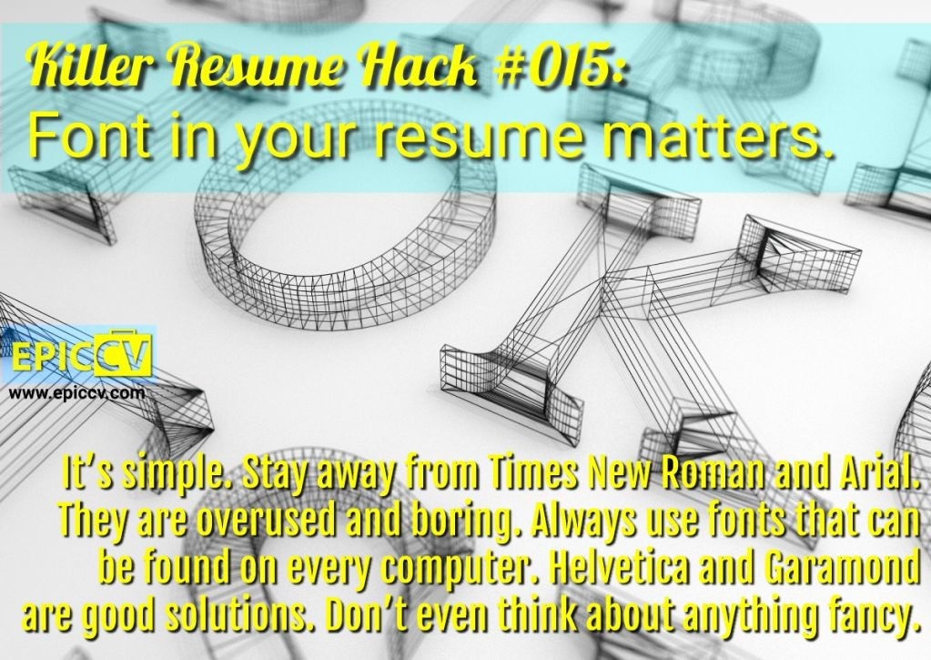 Killer Resume Hack #015