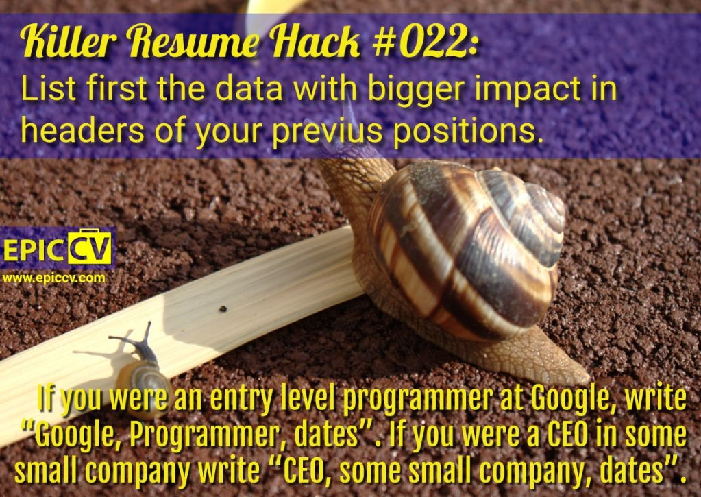 Killer Resume Hack #022