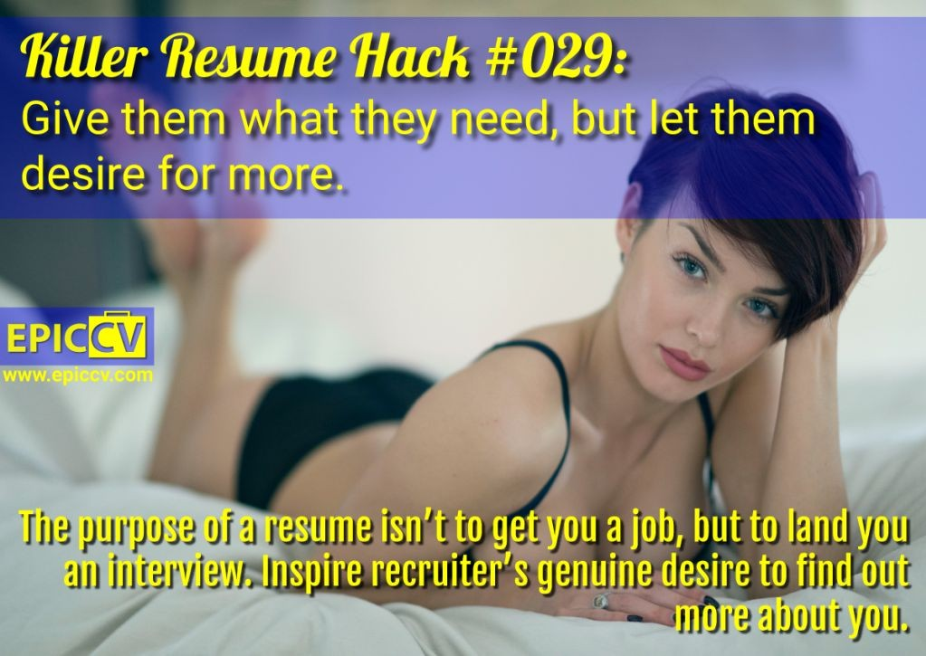 Killer Resume Hack #029