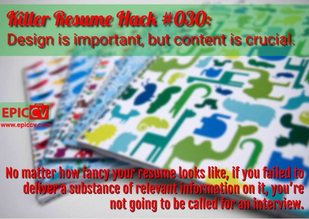 Killer Resume Hack #030
