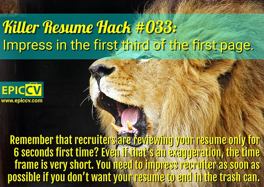 Killer Resume Hack #033