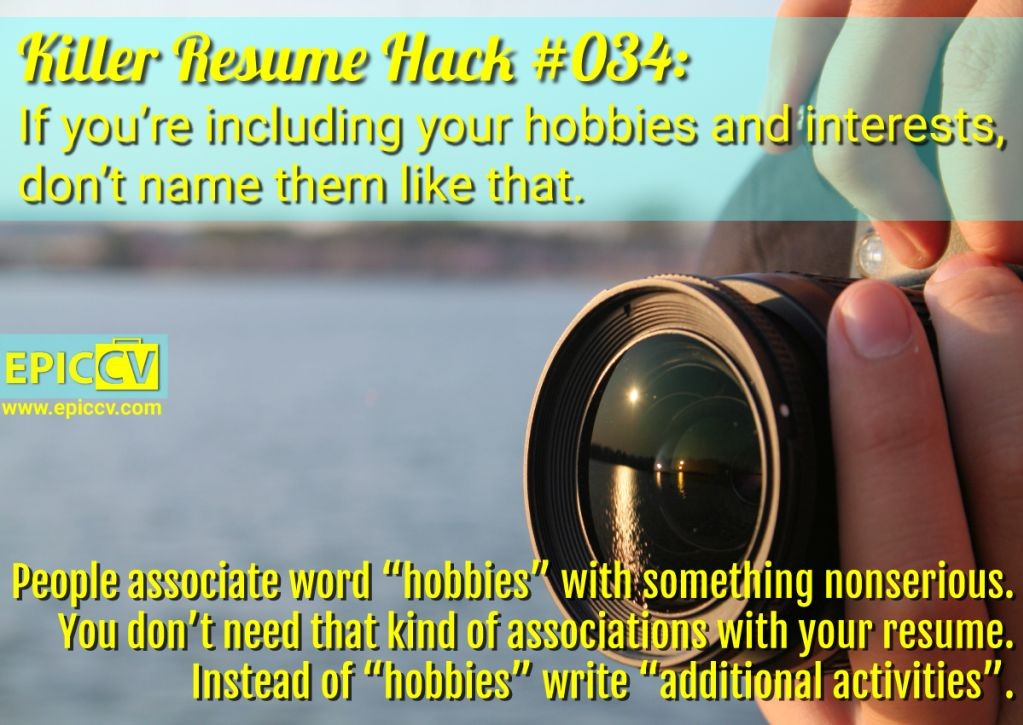 Killer Resume Hack #034